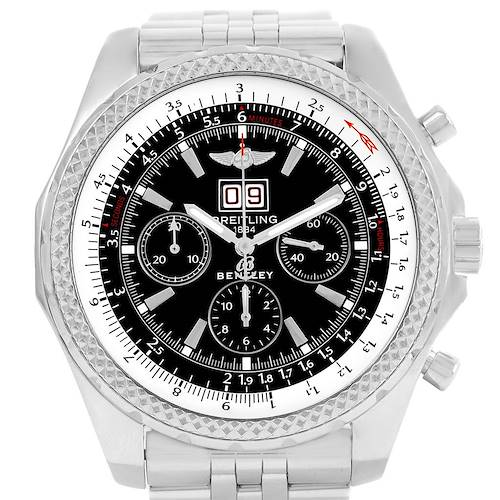 Photo of Breitling Bentley Motors Chrono Black Dial Mens Watch A44362 Box Papers