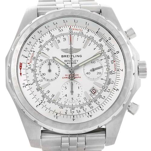 Photo of Breitling Bentley Motors T Chronograph Watch A25363 Box Papers