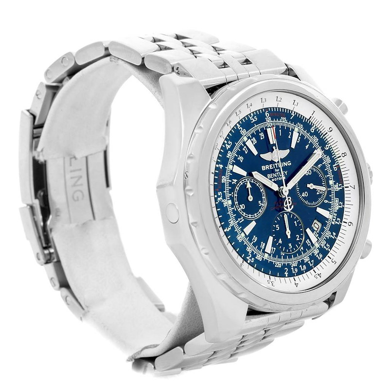 Breitling Bentley Motors Blue Dial Chronograph Mens Watch A25362 SwissWatchExpo