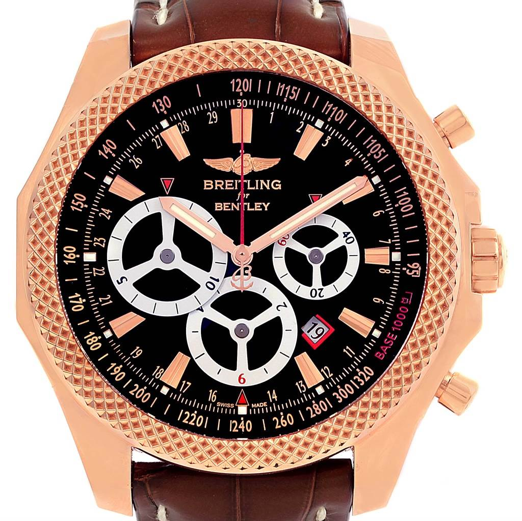 14552P Breitling Bentley Barnato Rose Gold Limited Edition Watch R2536624/BB10-761P SwissWatchExpo
