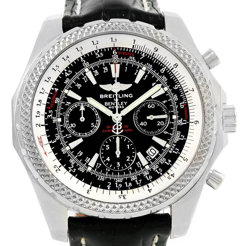 14554 Breitling Bentley Motors Chronograph Black Dial Mens Watch A25362 SwissWatchExpo