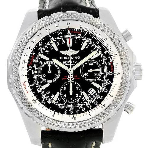 Photo of Breitling Bentley Motors Chronograph Black Dial Mens Watch A25362