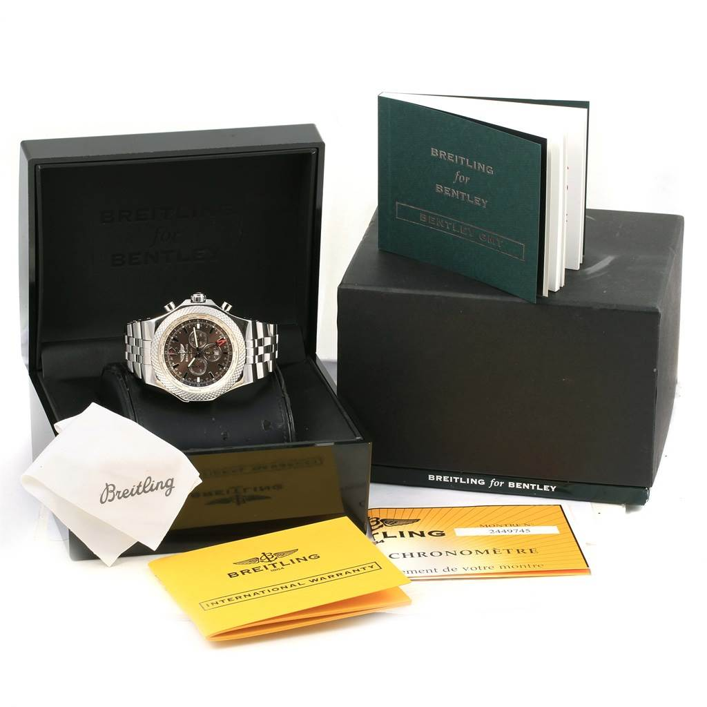 Breitling Bentley GMT Bronze Dial Mens Watch A47362 Box Papers SwissWatchExpo