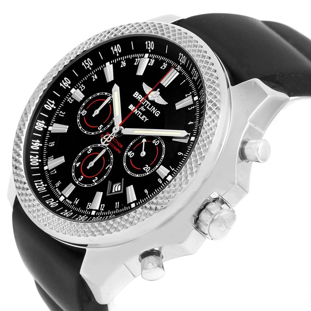 Breitling Bentley Barnato Racing Rubber Strap Watch A25368 Box Papers SwissWatchExpo