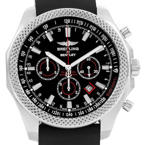 Photo of Breitling Bentley Barnato Racing Rubber Strap Watch A25368 Box Papers