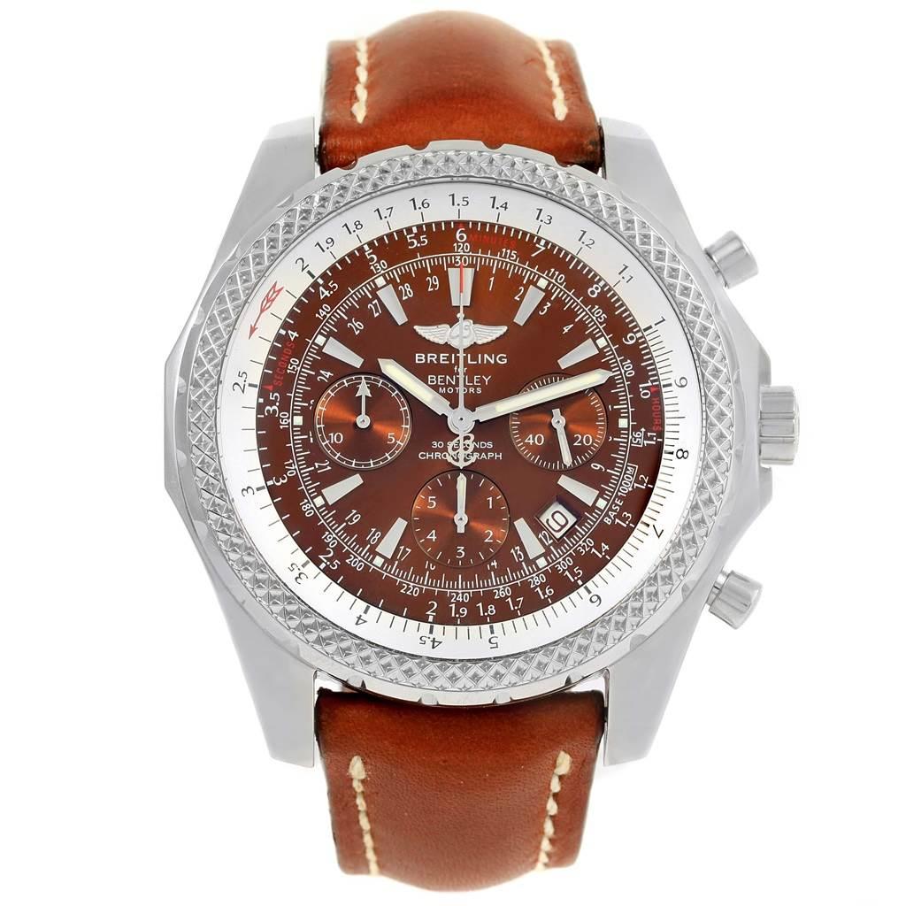 Breitling Bentley Motors Bronze Dial Mens Watch A25362 Box Papers SwissWatchExpo
