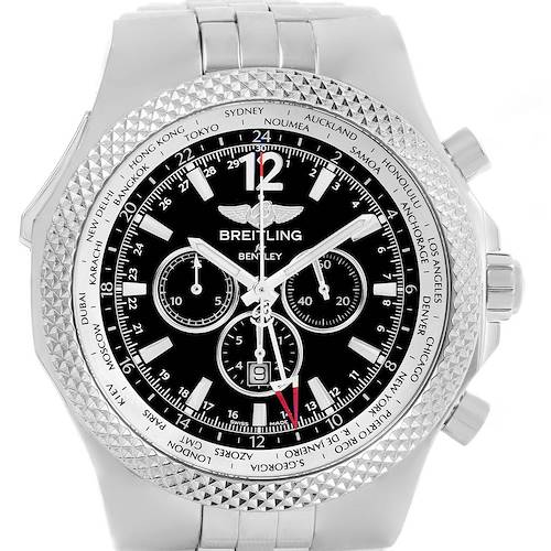 Photo of Breitling Bentley GMT Black Dial Mens Watch A47362 Box Papers