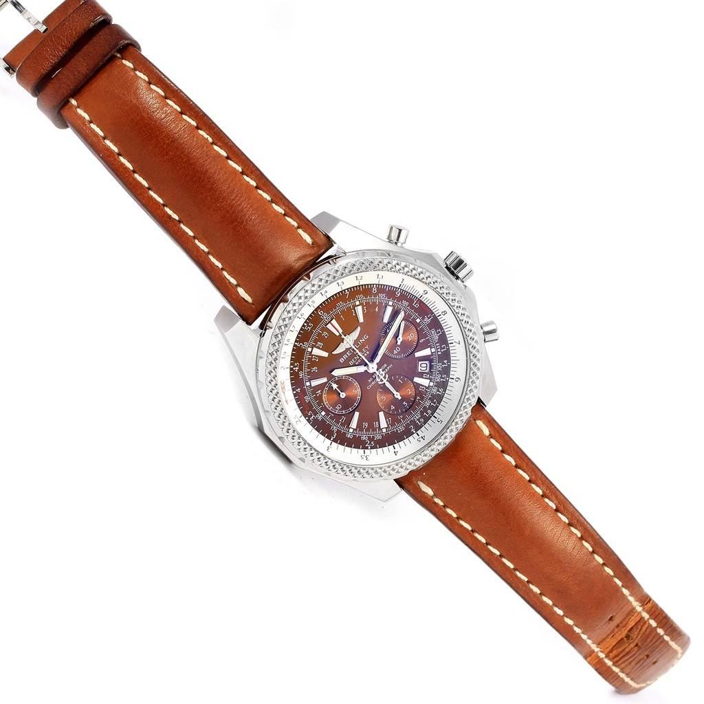 Breitling Bentley Motors T Chrono Bronze Dial Watch A25363 Box Papers SwissWatchExpo