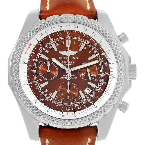 Photo of Breitling Bentley Motors T Chrono Bronze Dial Watch A25363 Box Papers