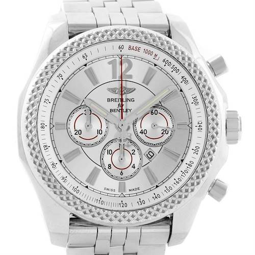 Photo of Breitling Bentley Barnato 42 Chronograph Silver Dial Mens Watch A41390