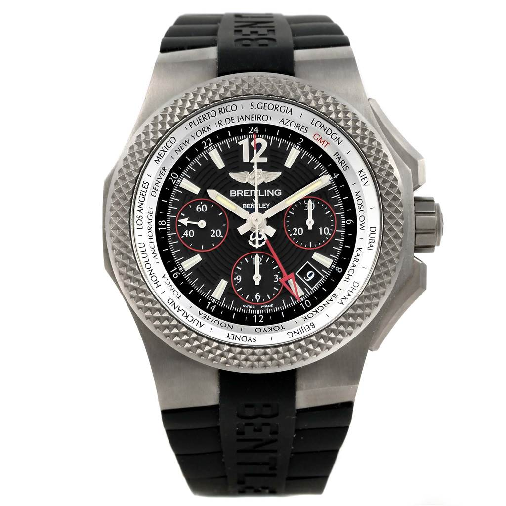 15684 Breitling Bentley GMT Light Body B04 Titanium Mens Watch EB0433 Unworn SwissWatchExpo