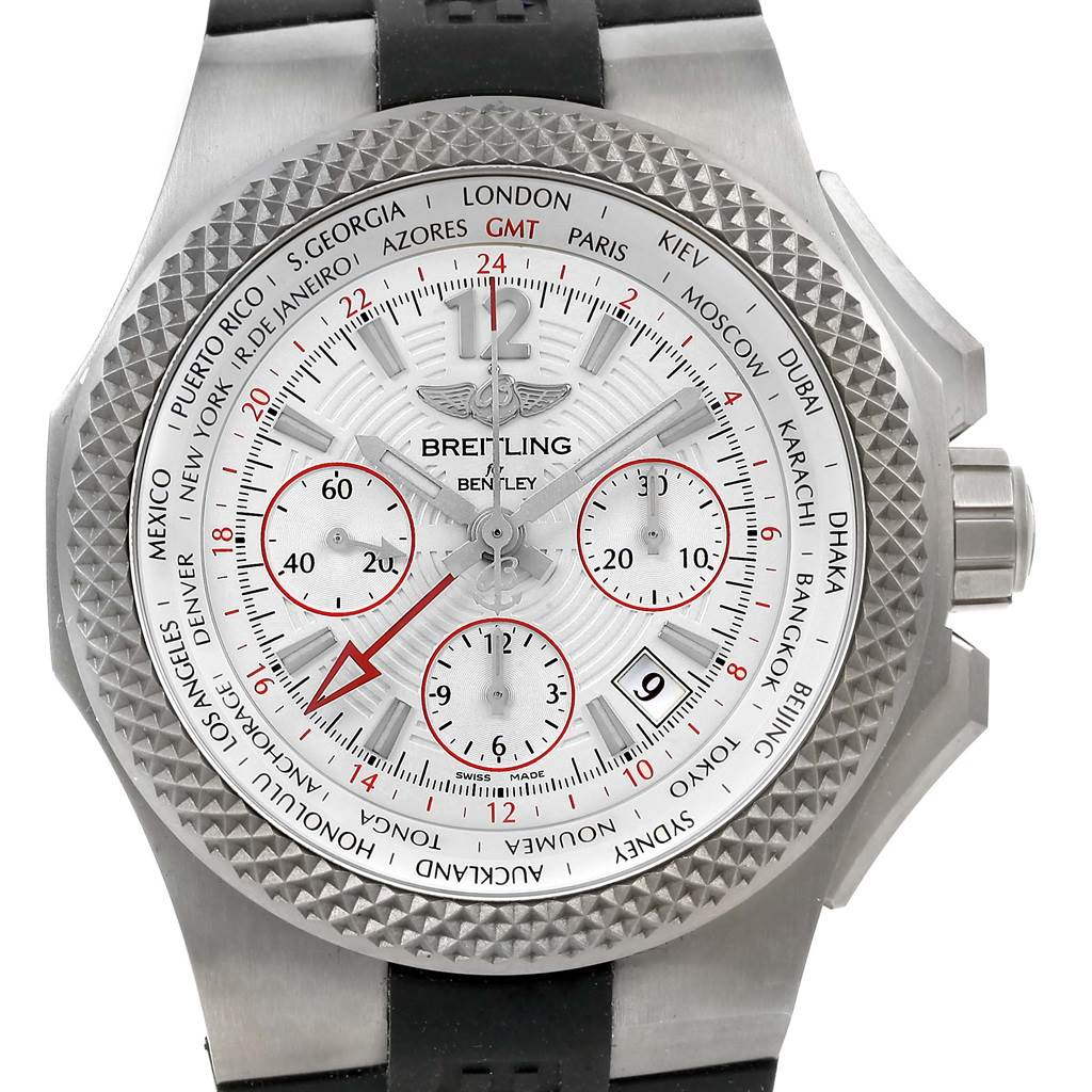 15685 Breitling Bentley GMT Light Body B04 Titanium Mens Watch EB0433 Unworn SwissWatchExpo