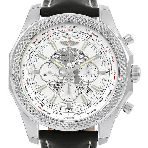 Photo of Breitling Bentley GMT B05 Unitime Silver Dial Mens Watch AB0521 Unworn