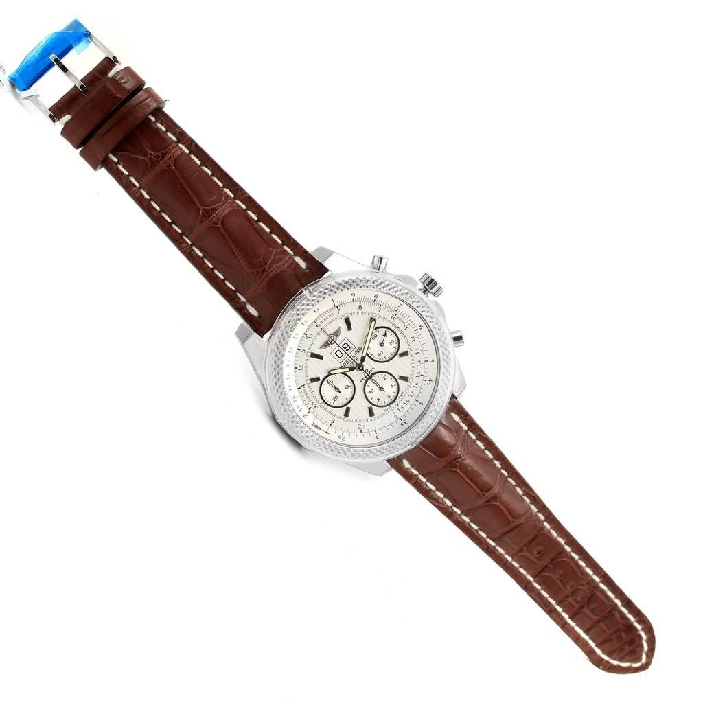 15681 Breitling Bentley 6.75 Speed Chronograph Silver Dial Watch A44364 Unworn SwissWatchExpo
