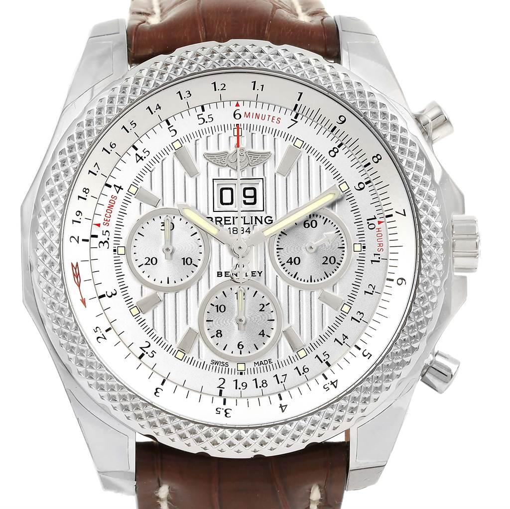 Breitling Bentley 6.75 Speed Chronograph Silver Dial Watch A44364 Unworn SwissWatchExpo