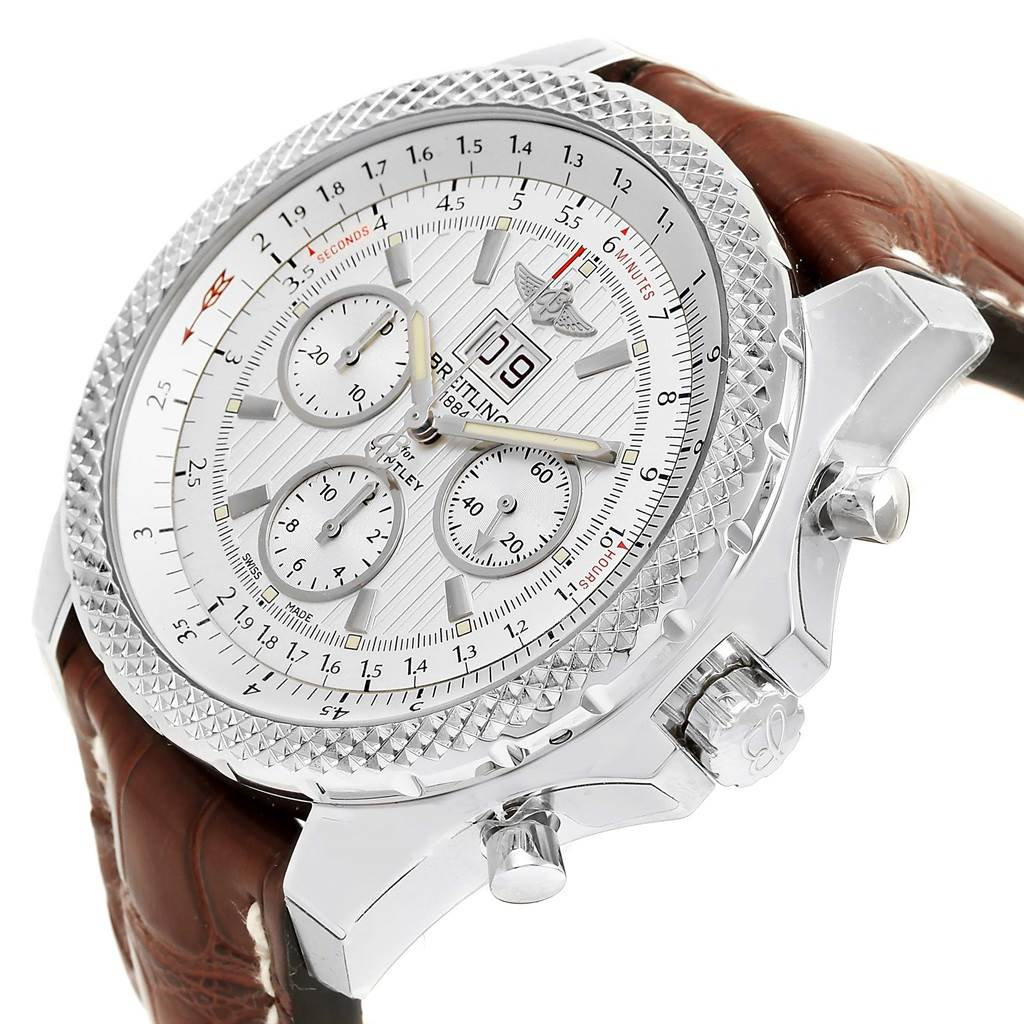15681 Breitling Bentley 6.75 Speed Chronograph Silver Dial Watch A44364 Unworn SwissWatchExpo