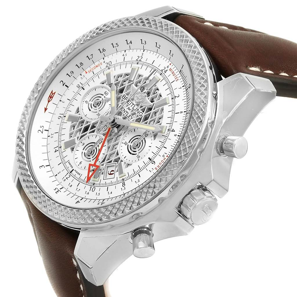 15682 Breitling Bentley GMT Chronograph Silver Dial Mens Watch AB0431 Unworn SwissWatchExpo