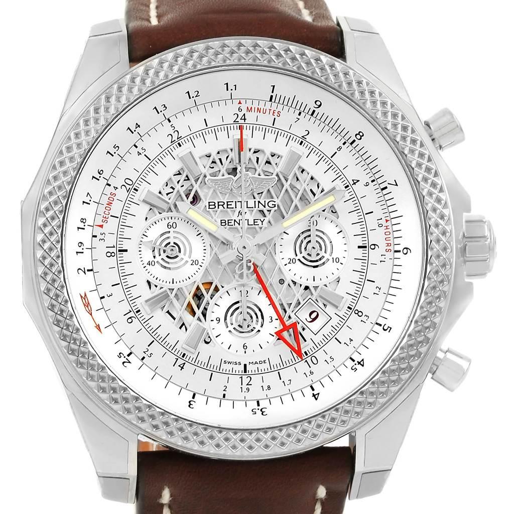 Breitling Bentley GMT Chronograph Silver Dial Mens Watch AB0431 Unworn SwissWatchExpo