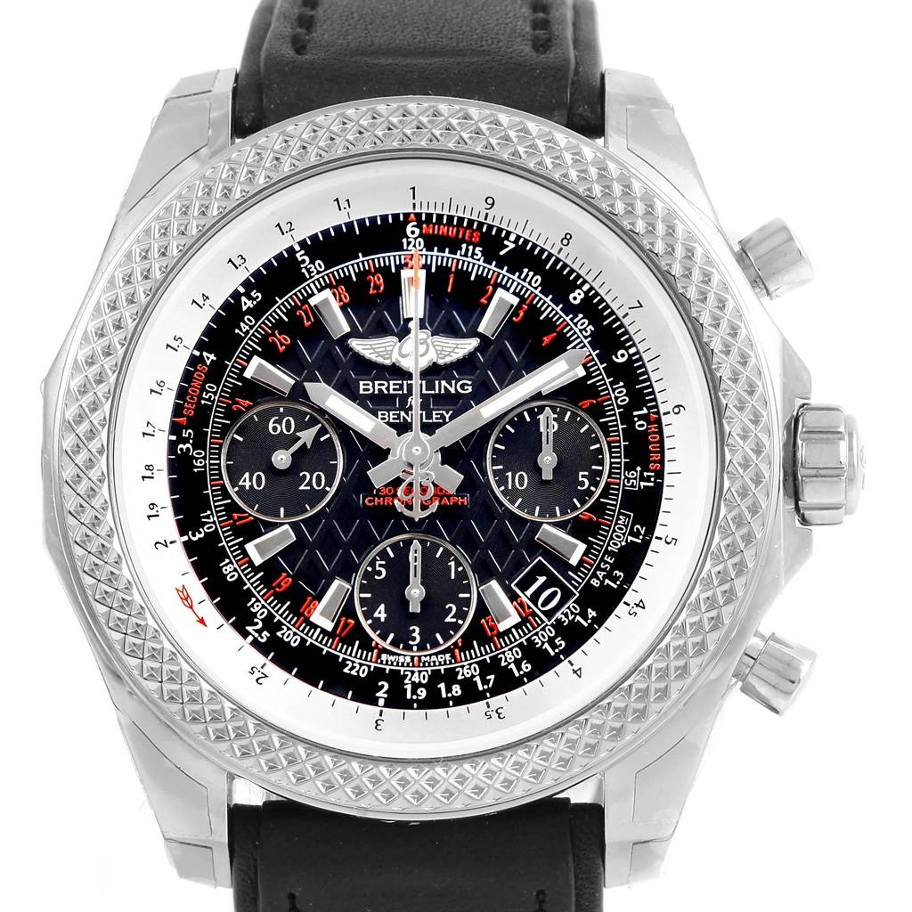 15683 Breitling Bentley B06 Black Dial Chronograph Mens Watch AB0612 Unworn SwissWatchExpo