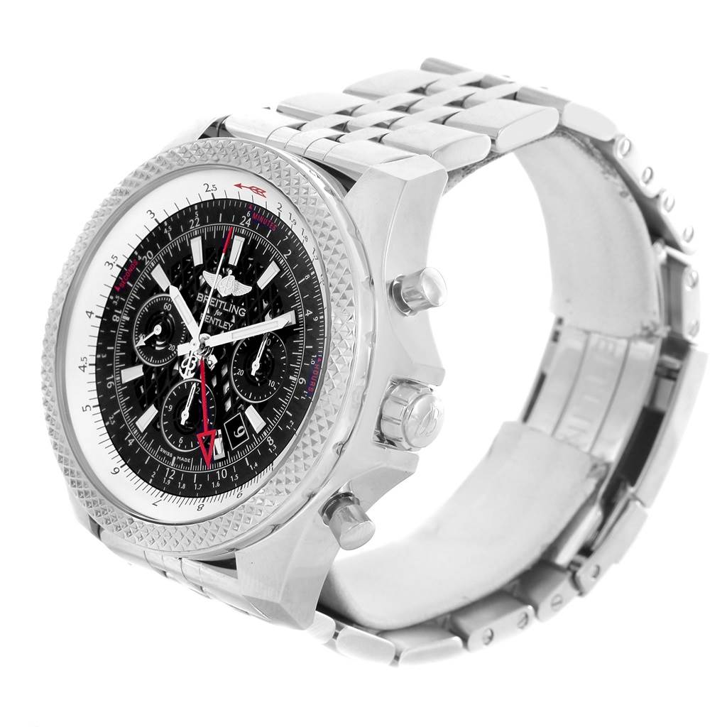 13264 Breitling Bentley GMT Chronograph Black Dial Watch AB0431 Box Papers SwissWatchExpo