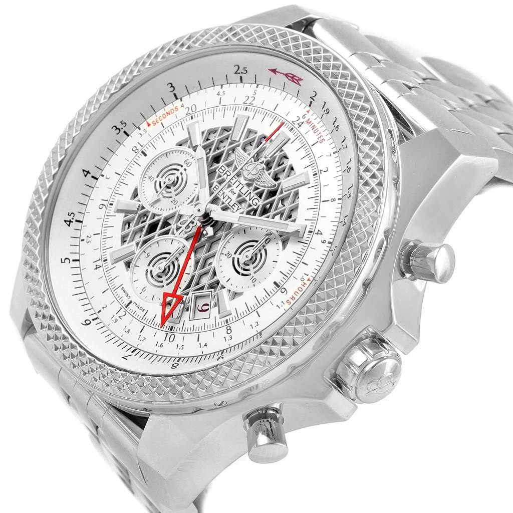 Breitling Bentley GMT Chronograph Silver Dial Watch AB0431 Box Papers SwissWatchExpo