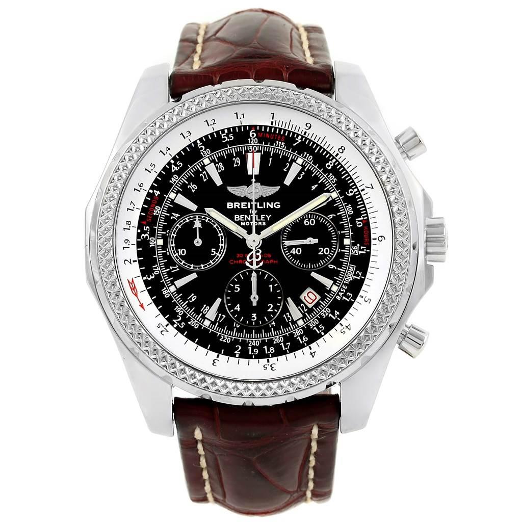 Breitling Bentley Motors Chronograph Black Dial Mens Watch A25362 SwissWatchExpo