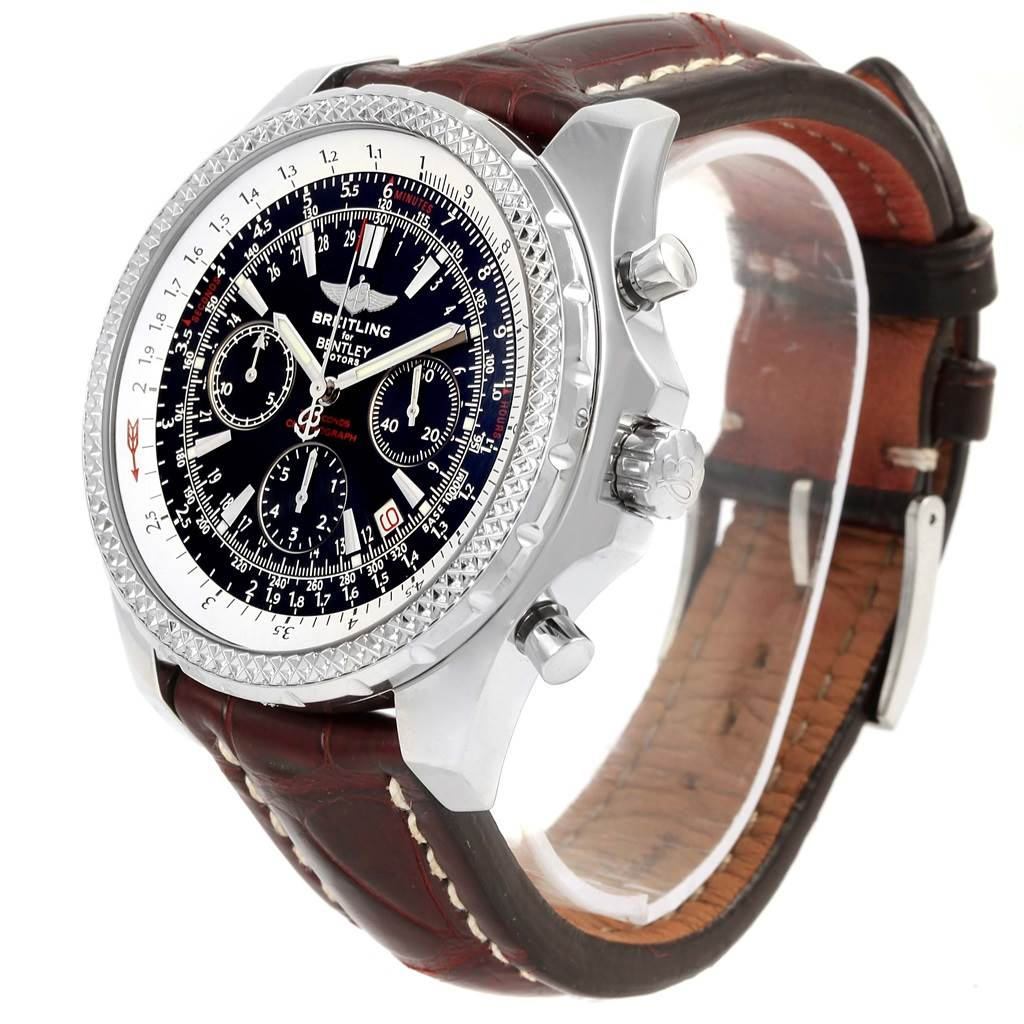 15689 Breitling Bentley Motors Chronograph Black Dial Mens Watch A25362 SwissWatchExpo