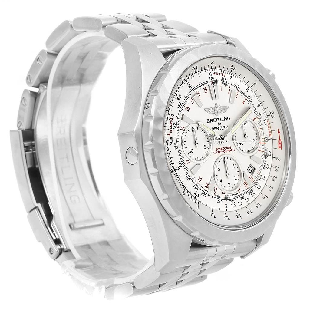 14261A Breitling Bentley Motors T Speed Silver Dial Watch A25365 Box Papers SwissWatchExpo