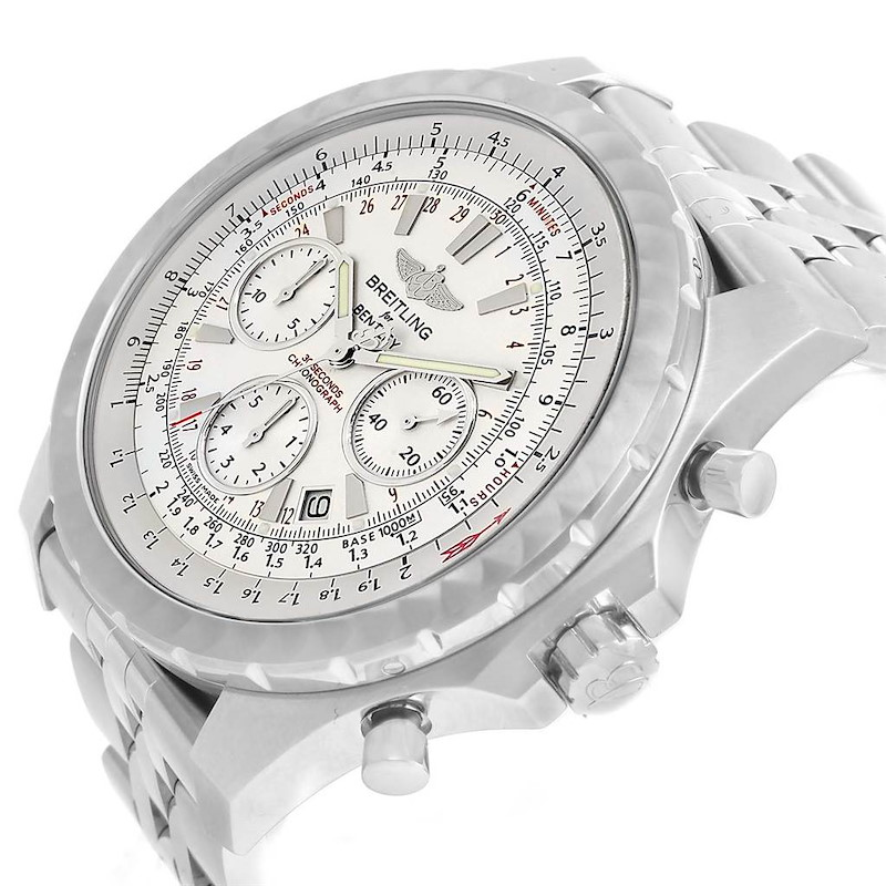 Breitling Bentley Motors T Speed Silver Dial Watch A25365 Box Papers SwissWatchExpo