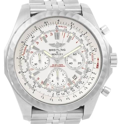 Photo of Breitling Bentley Motors T Speed Silver Dial Watch A25365 Box Papers
