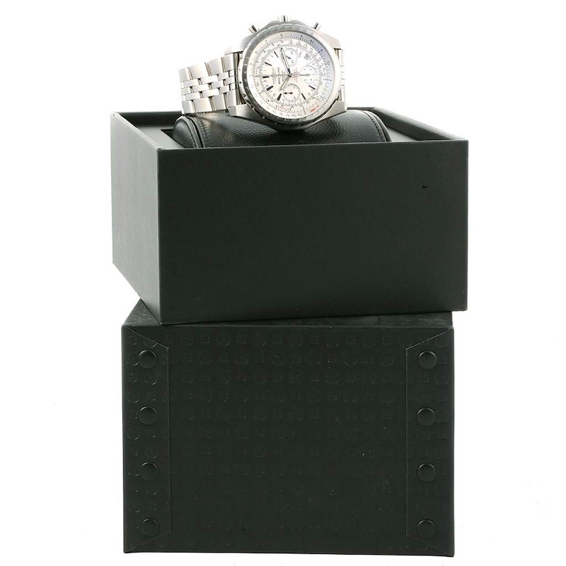 Breitling Bentley Motors T Silver Dial Chronograph Mens Watch A25363 SwissWatchExpo