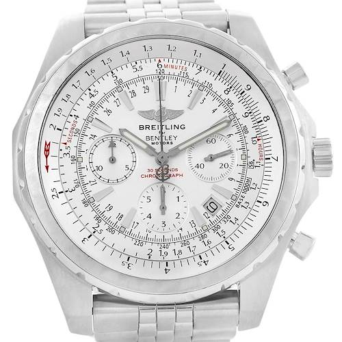 Photo of Breitling Bentley Motors T Silver Dial Chronograph Mens Watch A25363