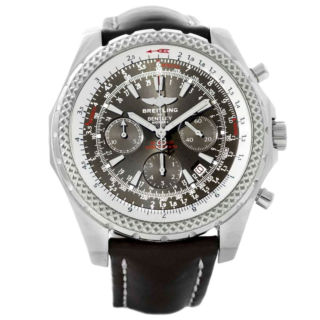 16443 Breitling Bentley Motors Chronograph Black Dial Mens Watch A25362 SwissWatchExpo