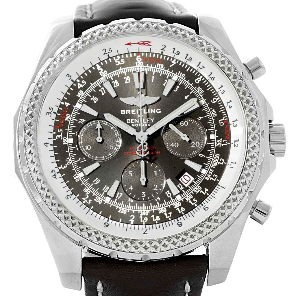 watch chronograph pin bentley stainless gt date white breitling day