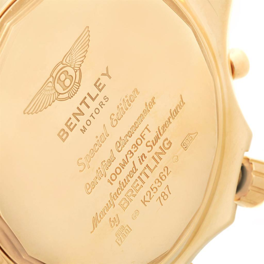 17457P Breitling Bentley Yellow Gold White Dial Chronograph Watch K25362 SwissWatchExpo