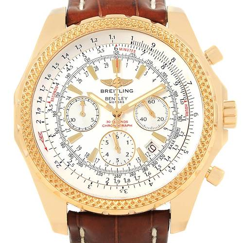Photo of Breitling Bentley Yellow Gold White Dial Chronograph Watch K25362
