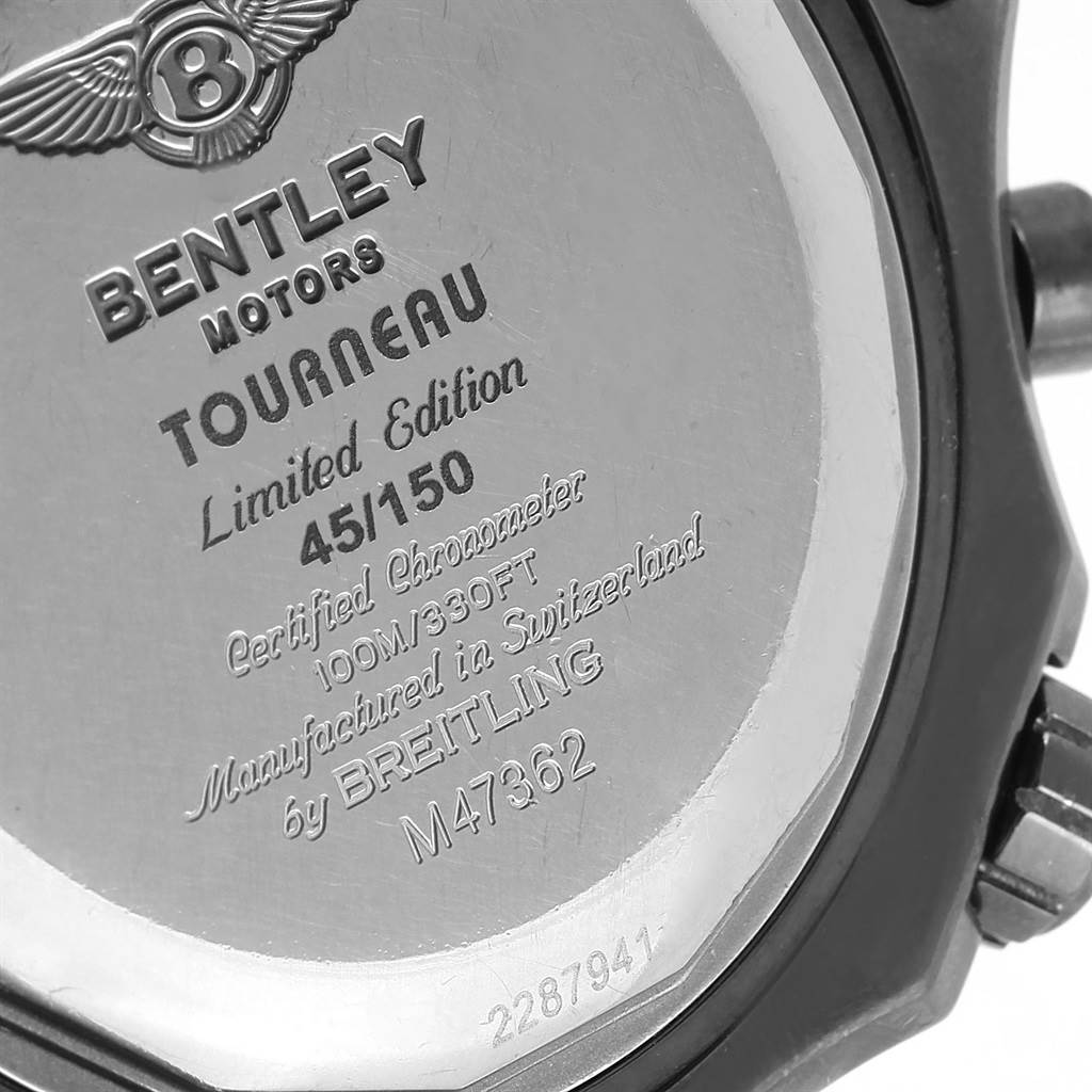 17569 Breitling Bentley GMT Midnight Carbon Rubber Strap LE Watch M47362 SwissWatchExpo