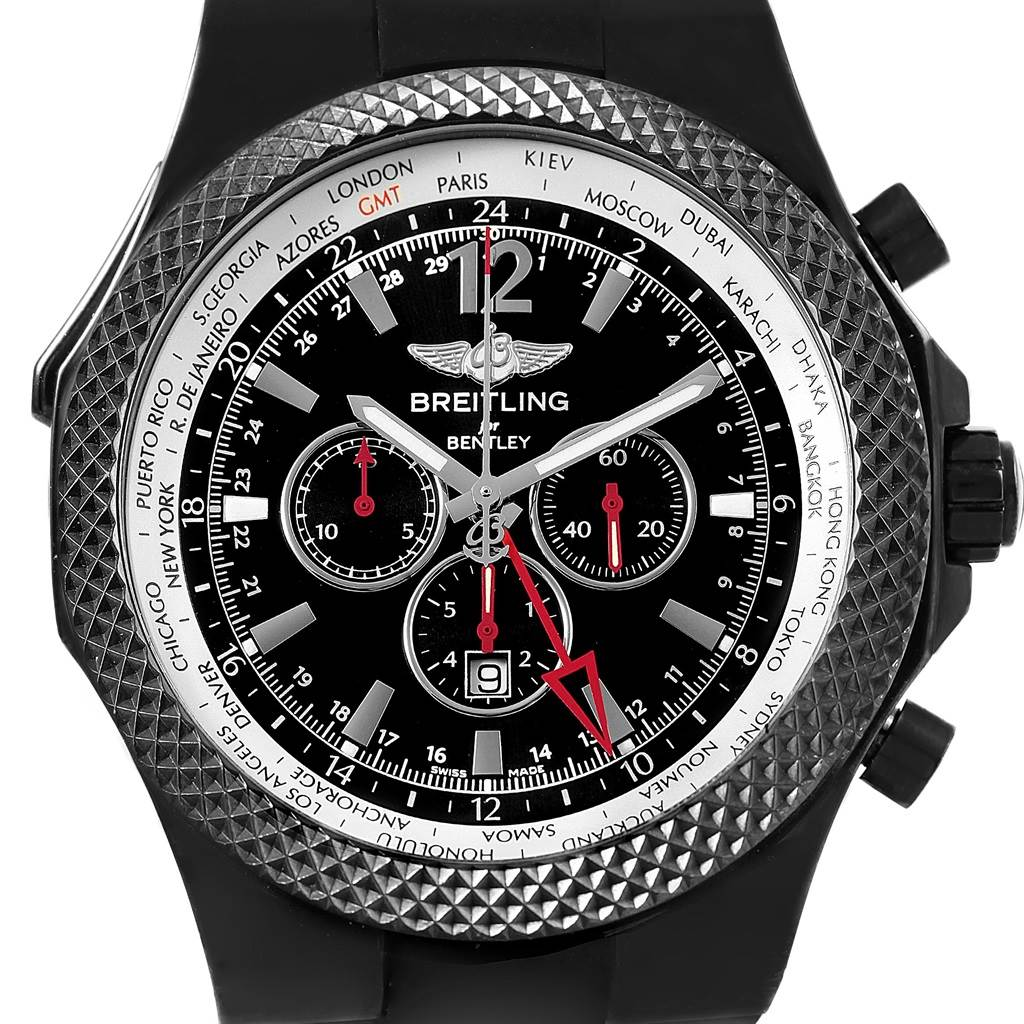 Breitling Bentley GMT Midnight Carbon Rubber Strap LE