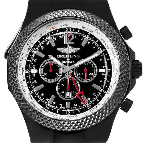 Photo of Breitling Bentley GMT Midnight Carbon Rubber Strap LE Watch M47362