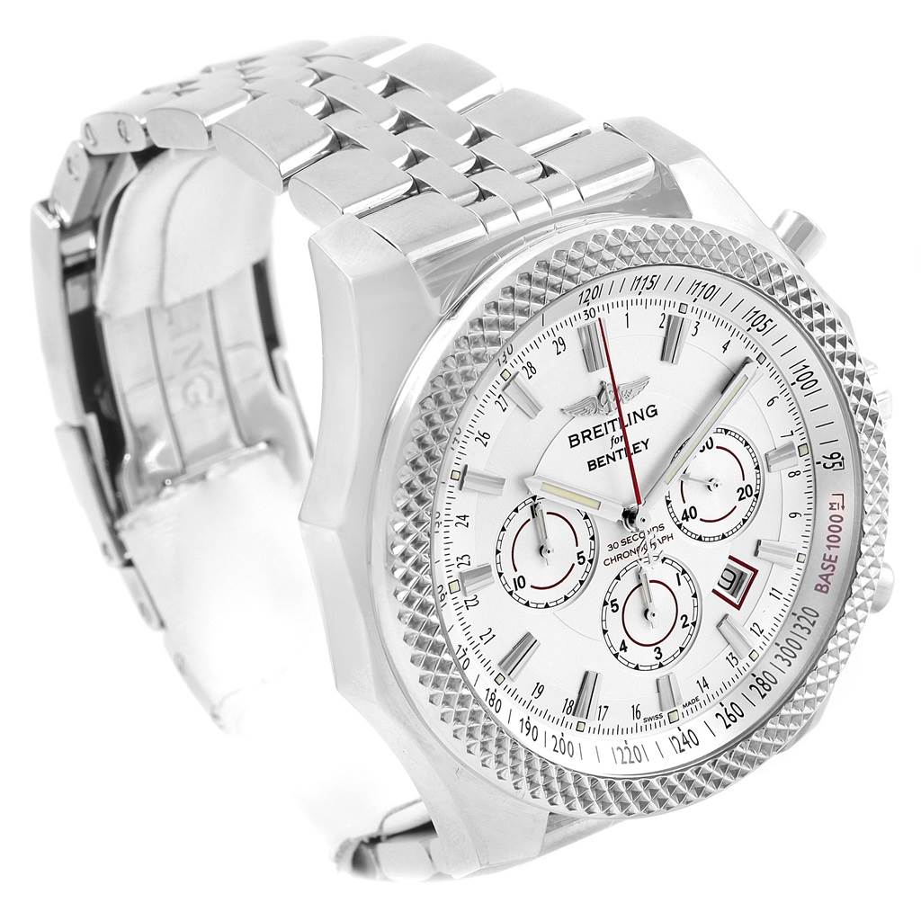 Breitling Bentley Barnato Racing Silver Dial Mens Watch A25368 SwissWatchExpo
