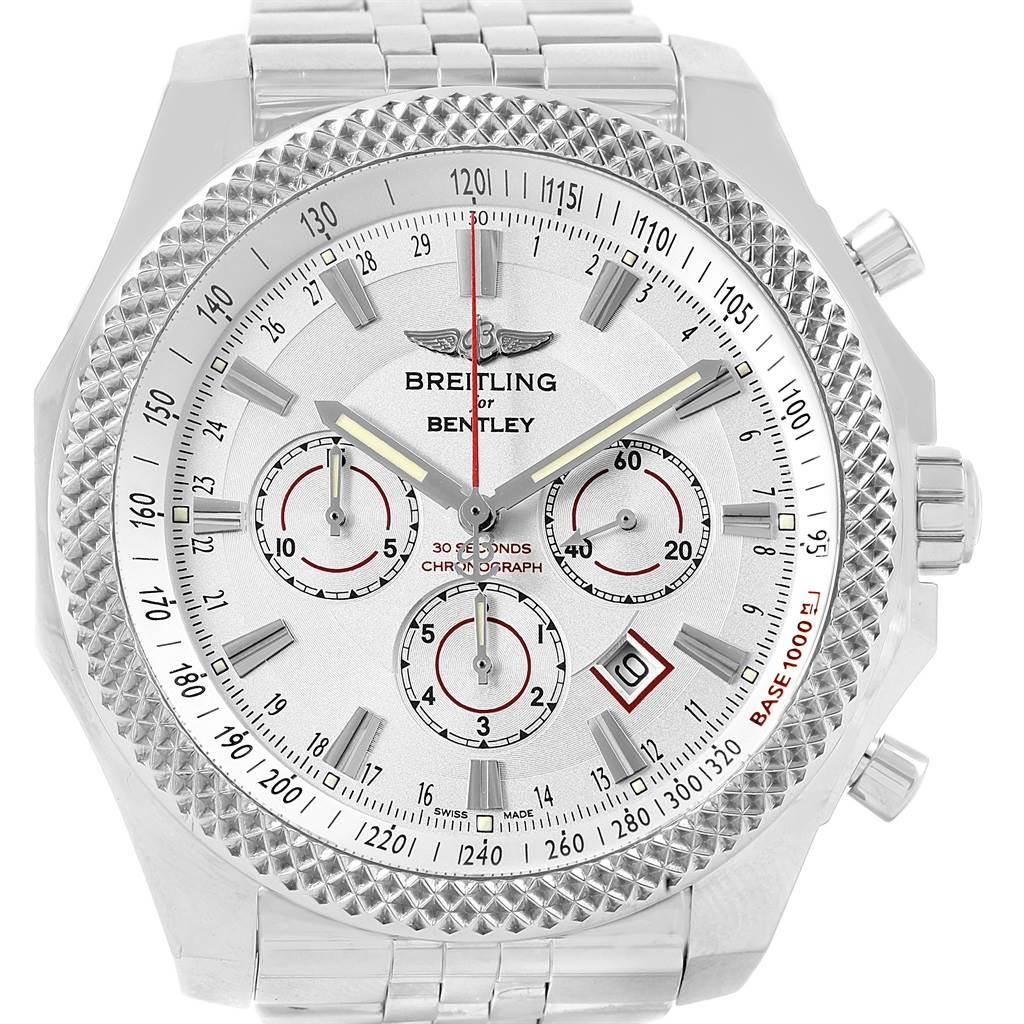 17571 Breitling Bentley Barnato Racing Silver Dial Mens Watch A25368 SwissWatchExpo