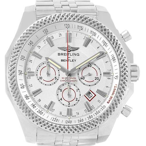 Photo of Breitling Bentley Barnato Racing Silver Dial Mens Watch A25368