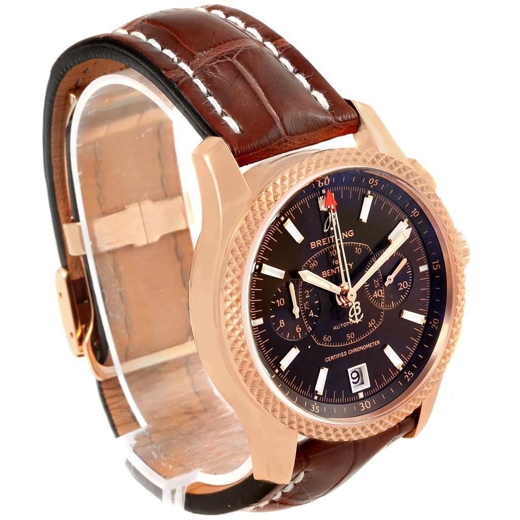Breitling Bentley Mark VI Rose Gold Special Edition Watch R26362 Unworn SwissWatchExpo