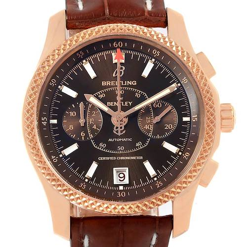 Photo of Breitling Bentley Mark VI Rose Gold Special Edition Watch R26362 Unworn