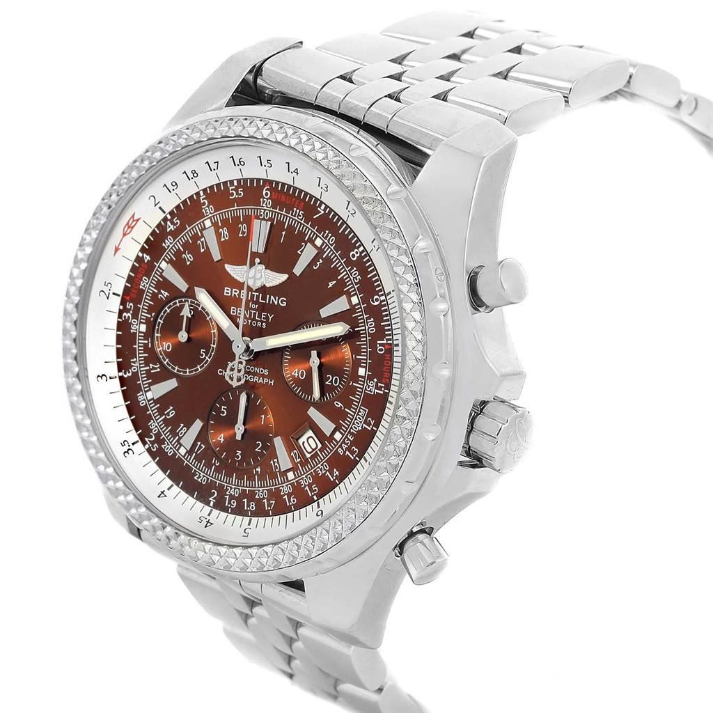 18378 Breitling Bentley Motors Bronze Dial Chronograph Mens Watch A25362 SwissWatchExpo