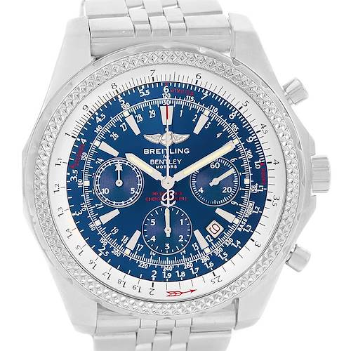 Photo of Breitling Bentley Motors Blue Dial Chrono Mens Watch A25362 Box Papers