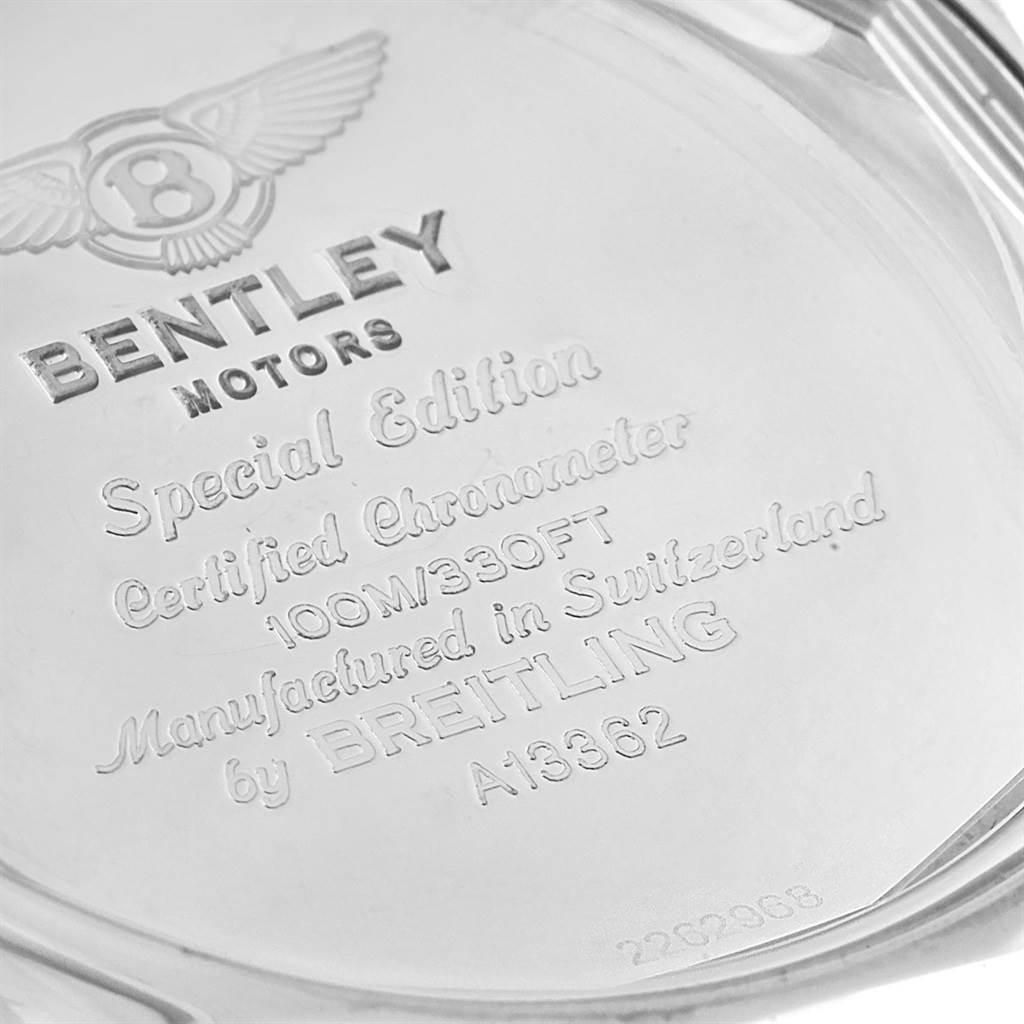 Breitling Bentley Motors GT Blue Dial Mens Watch A13362 Box Papers SwissWatchExpo