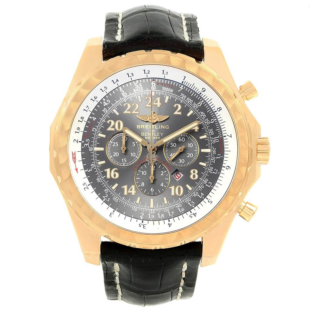 18262 Breitling Bentley Le Mans Chrono Yellow Gold Limited Edition Watch K22362 SwissWatchExpo