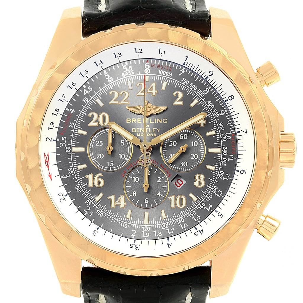 Breitling Bentley Le Mans Chrono Yellow Gold Limited Edition Watch K22362 SwissWatchExpo