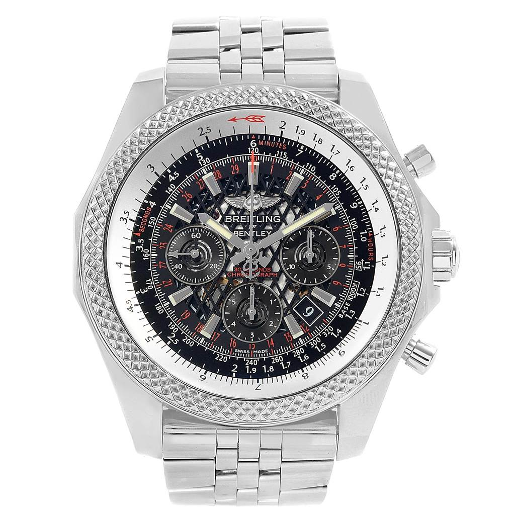 18472 Breitling Bentley B06 Black Dial Chronograph Watch AB0612 Box Papers SwissWatchExpo